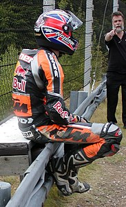 Stoner GP Brno 2004 after crash.jpg