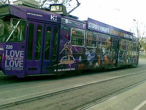 English: Melbourne Storm tram.