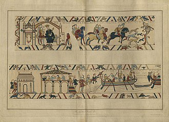 Charles Alfred Stothard - Plate 1 of the Stothard/Basire series of engravings of the Bayeux Tapestry