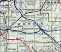 Stouffer's Railroad Map of Kansas 1915-1918 Morris County.png