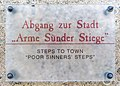 Straßburg Schlossweg 6 ehem. Bischofsburg Abgang zur Stadt Tafel 30092020 9967.jpg