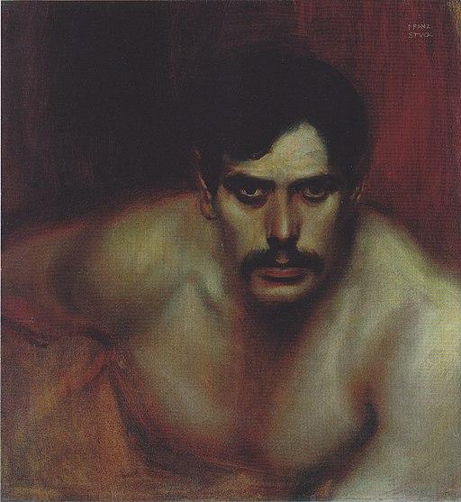 Stuck - Männliche Porträtstudie (Das böse Gewissen) - c. 1896