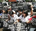 Student protesters shout slogans, Gloria Macapagal Arroyo.jpg