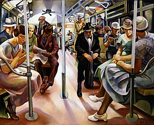 1934 in art - Image: Subway, Furedi, 1934