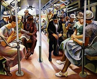 1934 in art - Image: Subway, Furedi, 1934