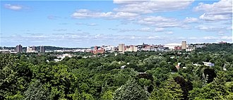 University Hill, Syracuse - University Hill skyline (2018)