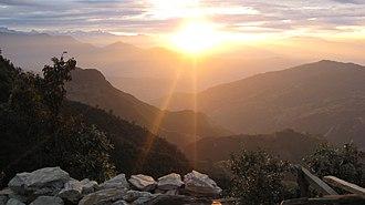 Helambu - Sunset view from Helambu