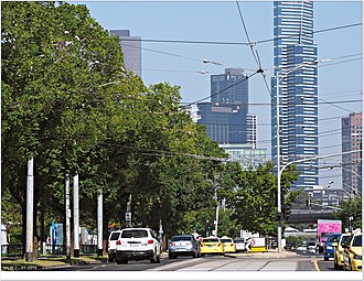 Swan Street, Melbourne - Olympic Boulevard runs between Alexandra Avenue and Punt Road since November 2006.