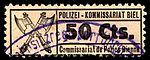 Switzerland Biel Bienne 1918 police revenue 50c - 31.jpg