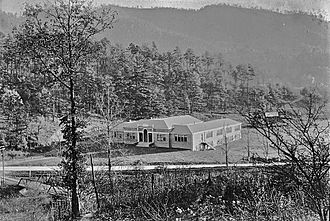 Smoky Mountain High School - The old Sylva High School, built in 1924 and demolished in 1990