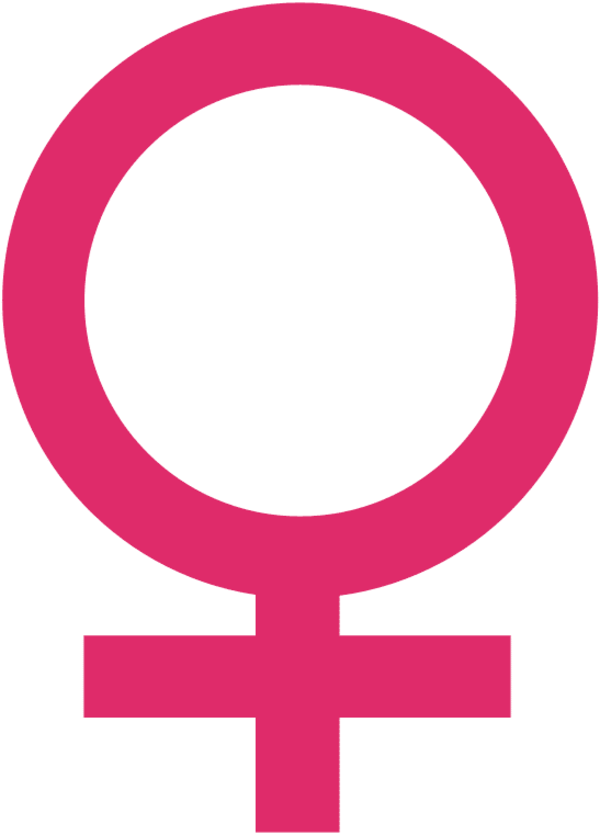 The symbol for the planet Venus, related to issues of love.