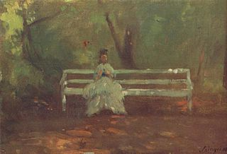 Woman on a Garden Seat