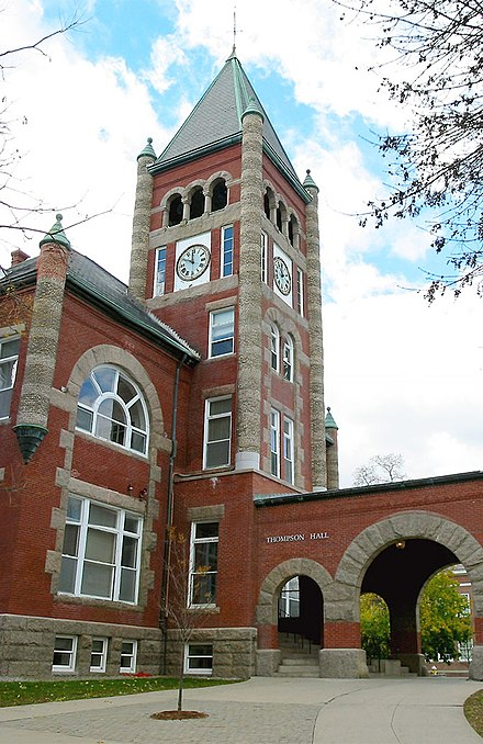 Thompson Hall, at UNH, was built in 1892. T-Hall2.jpg