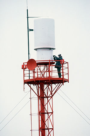 Tactical air navigation system - TACAN antenna at Shemya, Alaska.