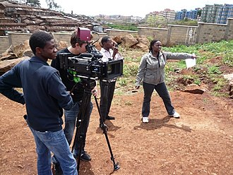 Cinema of Kenya - Shooting feature film Togetherness Supreme in Kibera and with the collaboration with Kibera youth trainees.
