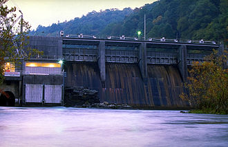 Watauga River - The Watauga River below the TVA Wilbur Dam