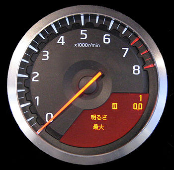 English: Nissan GT-R Tachometer
