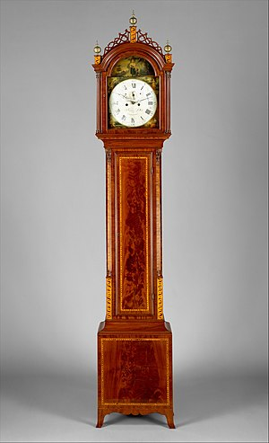 Oval Office grandfather clock - equivalent Seymour clock in the Metropolitan Museum of Art