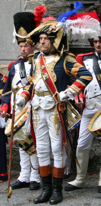 Drum major (military) - A Tambour-Major of the French Imperial Guard (historical reenactment)