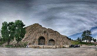 Taq-e Bostan - Taq Bostan, a famous rock relief of Sassanid Persia