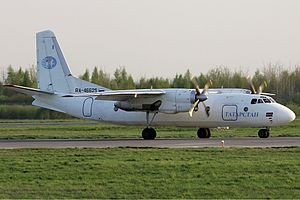 Antonov - Antonov An-24, the Soviet Union's most common regional airliner.