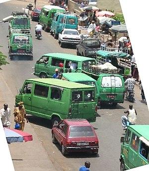 Taxi vans in Bamako