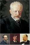 Paintings of Pyotr Ilyich Tchaikovsky and members of the Belyayev circle