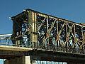 Tczew, silniční most, začátek na tczewské straně.JPG