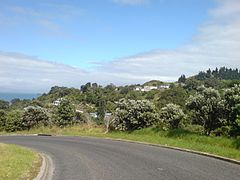Te Mata Village From South, Coromandel.jpg