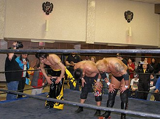 Kudo (wrestler) - (Left to right) Kudo, Miyawaki and Yoshiaki Yago at Chikara King of Trios in February 2007