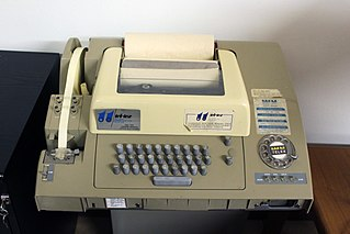 Telex switched network of teleprinters