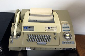Telex - A Teletype Model 32 used for Telex service