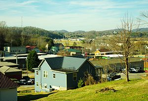 Tellico Plains, Tennessee - Tellico Plains, viewed from School Street