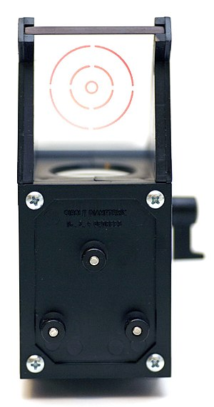 Finderscope - Reflex sights such as the Telrad (pictured) are  popular alternatives to traditional finderscopes, and are often used in conjunction with them.