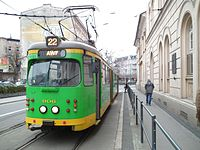 Temporary tram line 22 in Poznan (5).JPG
