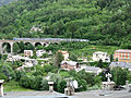 Tende viaduct and Italian train II.JPG