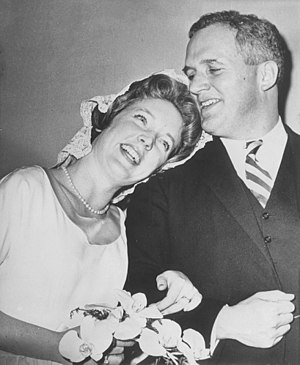 Tenley Albright - Tenley Albright and Tudor Gardiner getting married on December 31, 1961