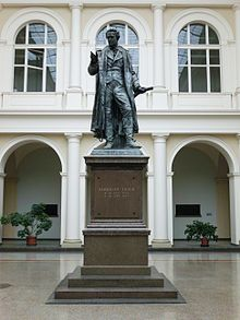 Original Thear monument in the Agricultural faculty of Berlin. (Source: Wikimedia)