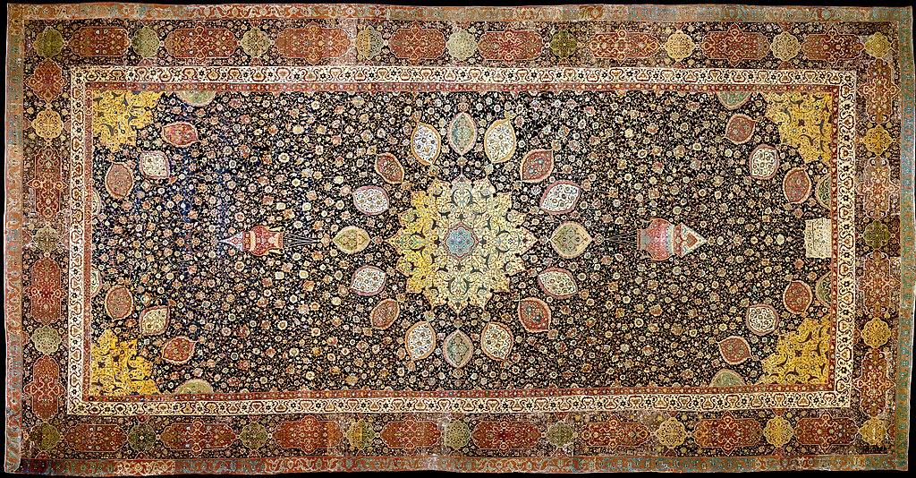 Art islamique au Victoria and Albert museum : Tapis du 16e siècle.
