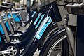 The Barclay's bike rental racks are new I heard here in London. I briefly considered getting one, than recalled how at every intersection I manage to look the wrong direction for on coming traffic. (4913945077).jpg