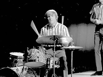 Dennis Wilson - Dennis performing on drums, 1964