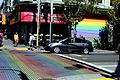 The Castro - Pedcrossing in Reinbow Flag Colours 2.JPG