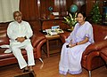 The Chief Minister of Bihar, Shri Nitish Kumar meeting the Union Minister for Railways, Kumari Mamata Banerjee, in New Delhi on August 31, 2009.jpg