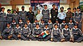 The Chief Minister of Delhi, Smt. Sheila Dikshit flagged off an NCC Girls Mountaineering Expedition to Rudugaira Peak in the Garhwal Himalayas, in New Delhi on September 07, 2010.jpg