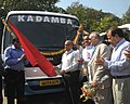 The Chief Minister of Goa, Shri Digambar Kamat flagging off the Shuttle Bus service for IFFI-2011, in Panaji, Goa on November 22, 2011.jpg