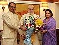 The Chief Minister of Madhya Pradesh, Shri Shivraj Singh Chouhan calling on the Prime Minister, Shri Narendra Modi, in New Delhi on September 04, 2014.jpg