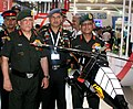 The Chief of Army Staff, General Bipin Rawat visiting the Army Aviation Pavilion, during the Aero India 2017, at Air Force Station, Yelahanka, in Bengaluru on February 14, 2017.jpg