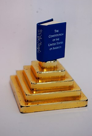 Miniature book - The Constitution of the United States, in miniature book.