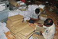 The Election materials being packed at one of the distribution centre in Tamil Nadu for the use in the 5th phase of General Election-2009 to be held on May 13, 2009 (1).jpg