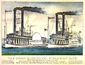 The Great Mississippi Steamboat Race. From New Orleans to St. Louis, July 1870.jpg